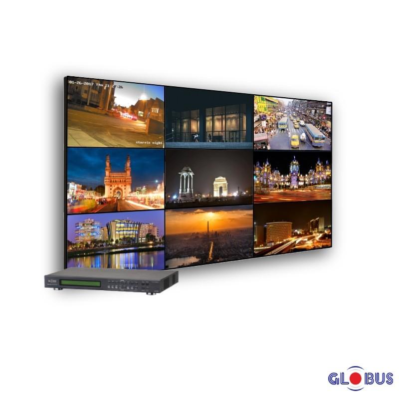 globus video wall 3x3 matrix
