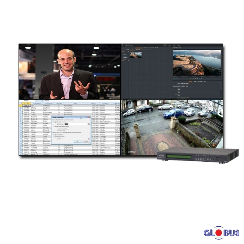 video wall with controller