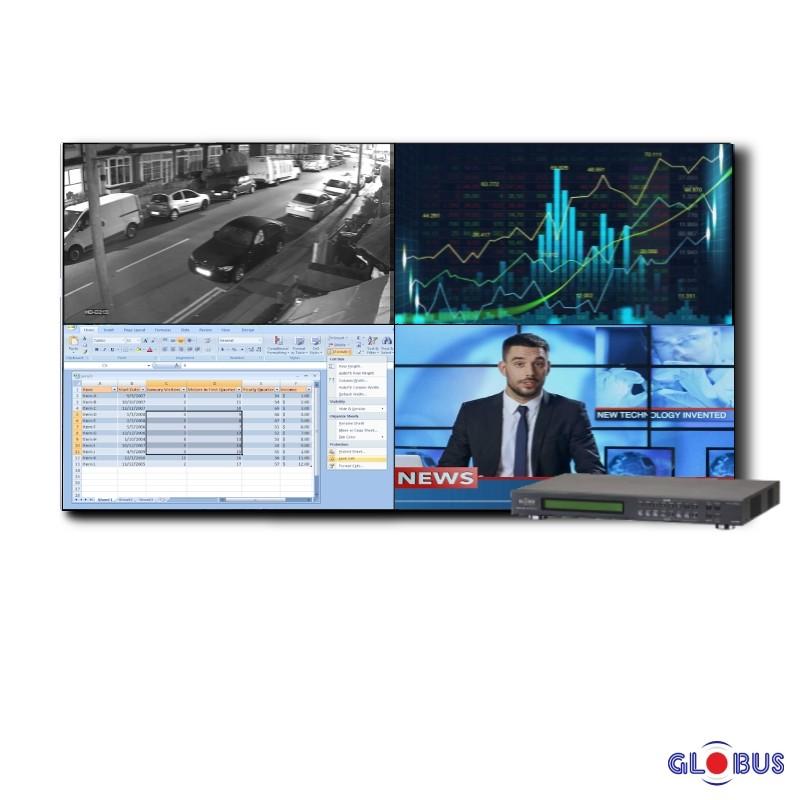 Globus video wall 2x2 matrix