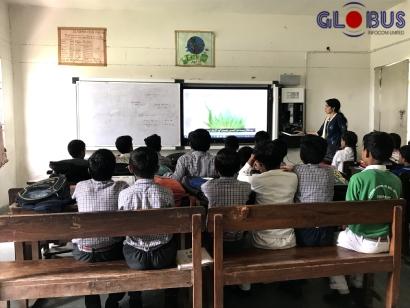 Globus Interactive Flat Panel Display for Education