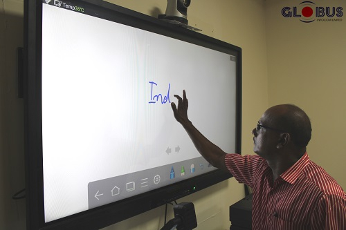 Infrared touchscreen in large displays