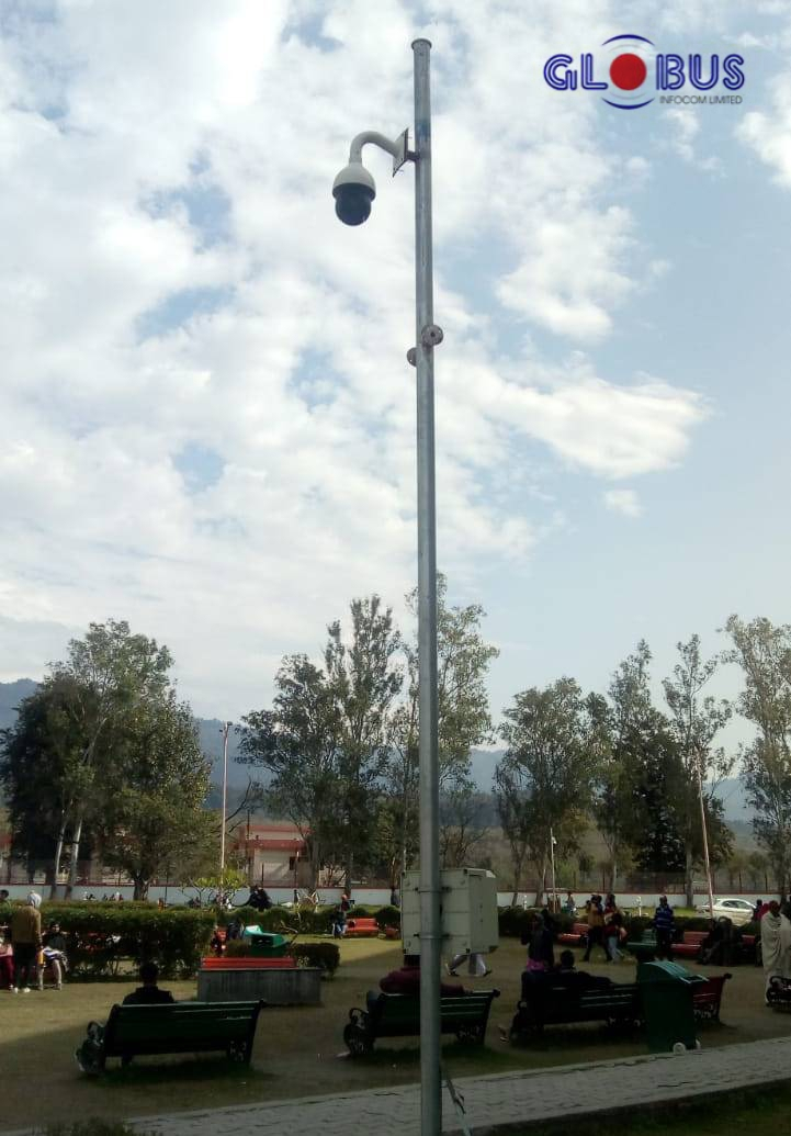 Globus PTZ camera at public place