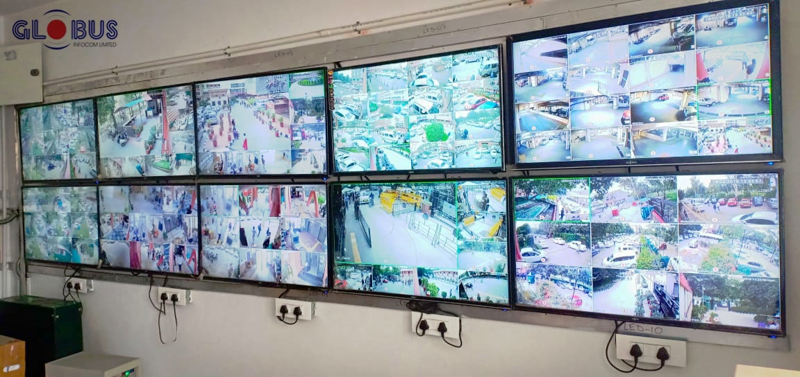 Control room for Globus CCTV Cameras