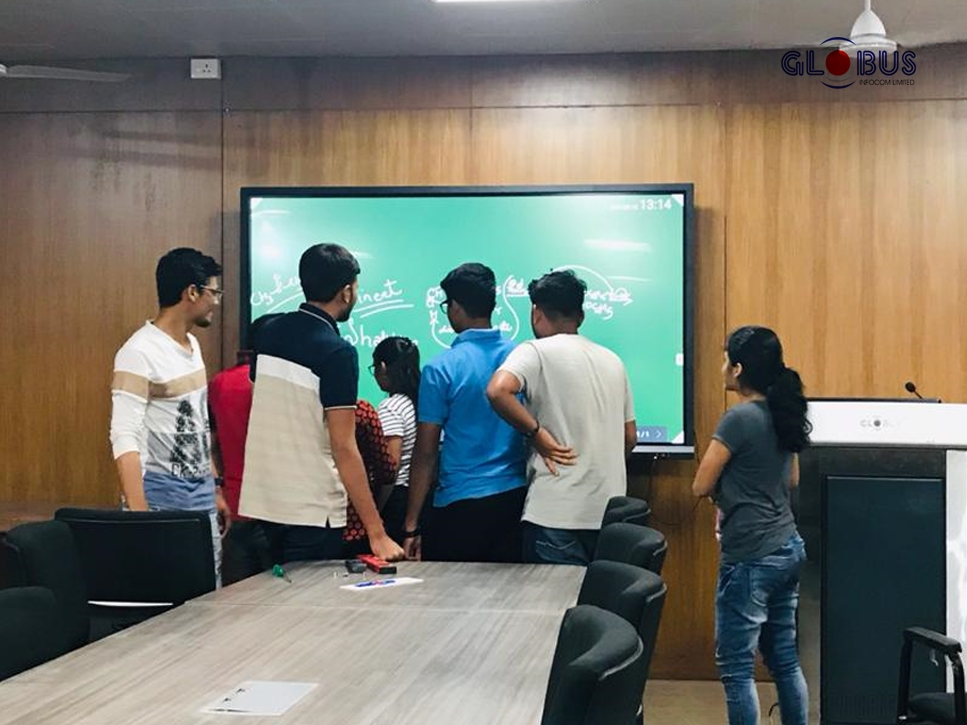 globus interactive flat panel in colleges