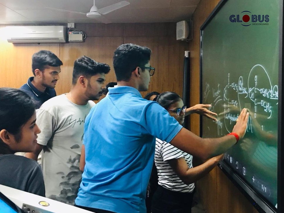 globus interactive flat panel display in colleges