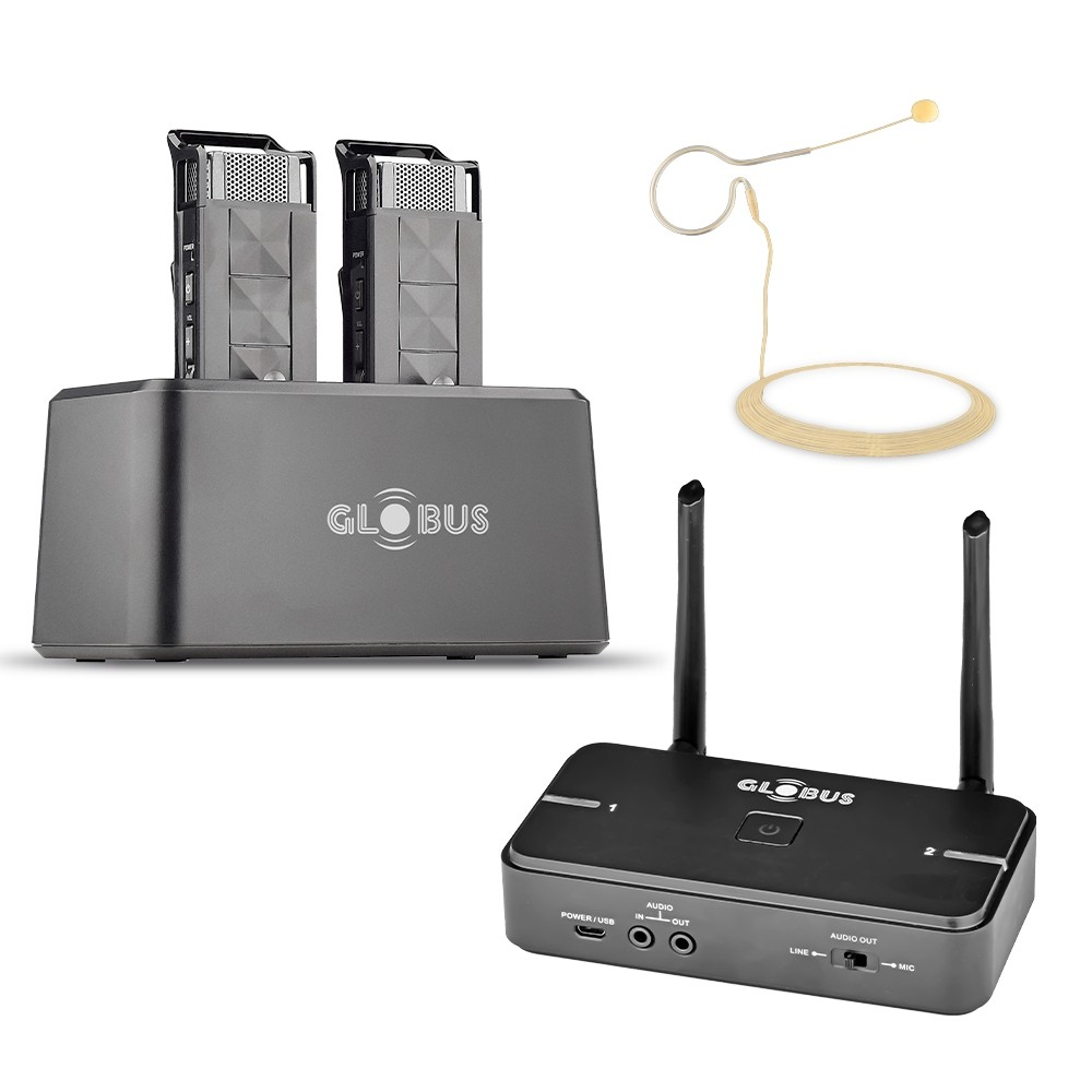 Wireless Microphone with Charging Dock - GSWP-02