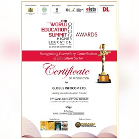 Leading Interactive Solution Provider for Higher Education - 17th World Education Summit
