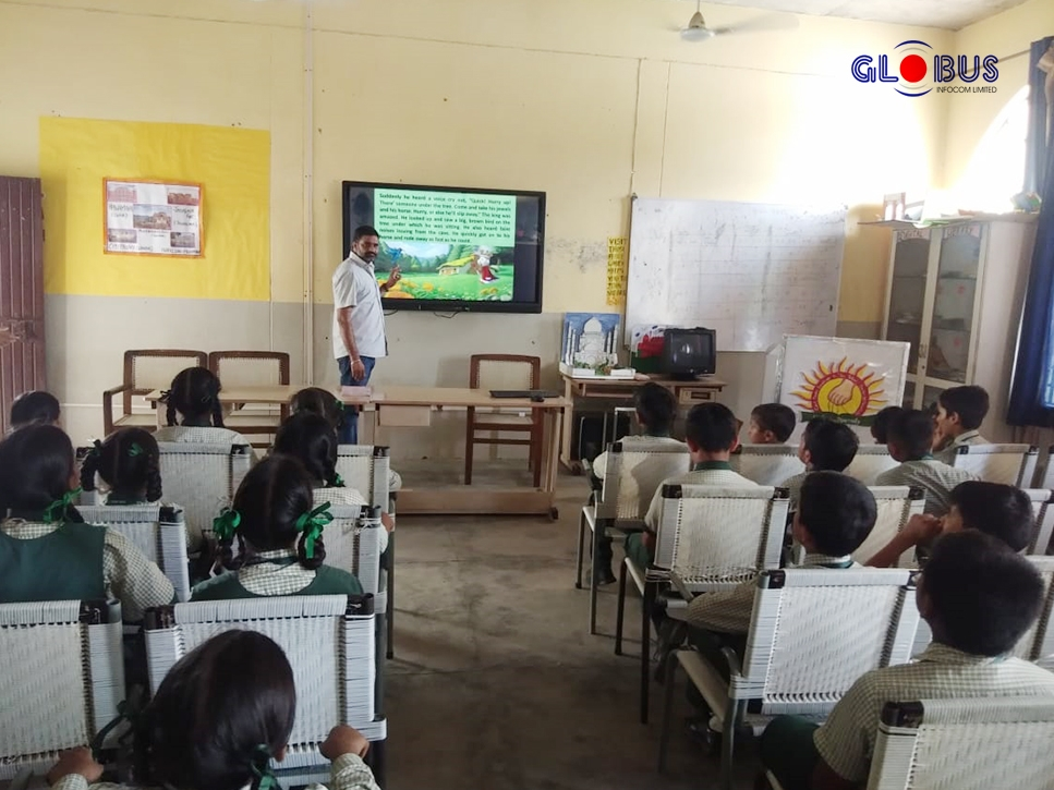 globus interactive flat panel in schools