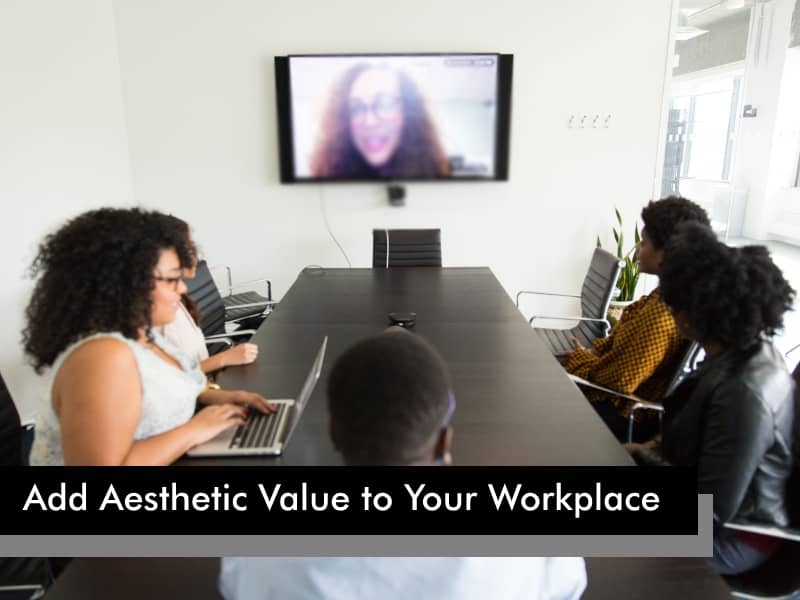 Interactive Display to boost aesthetic value of office